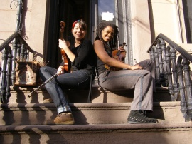 with violinist Mazz Swift in Jersey City